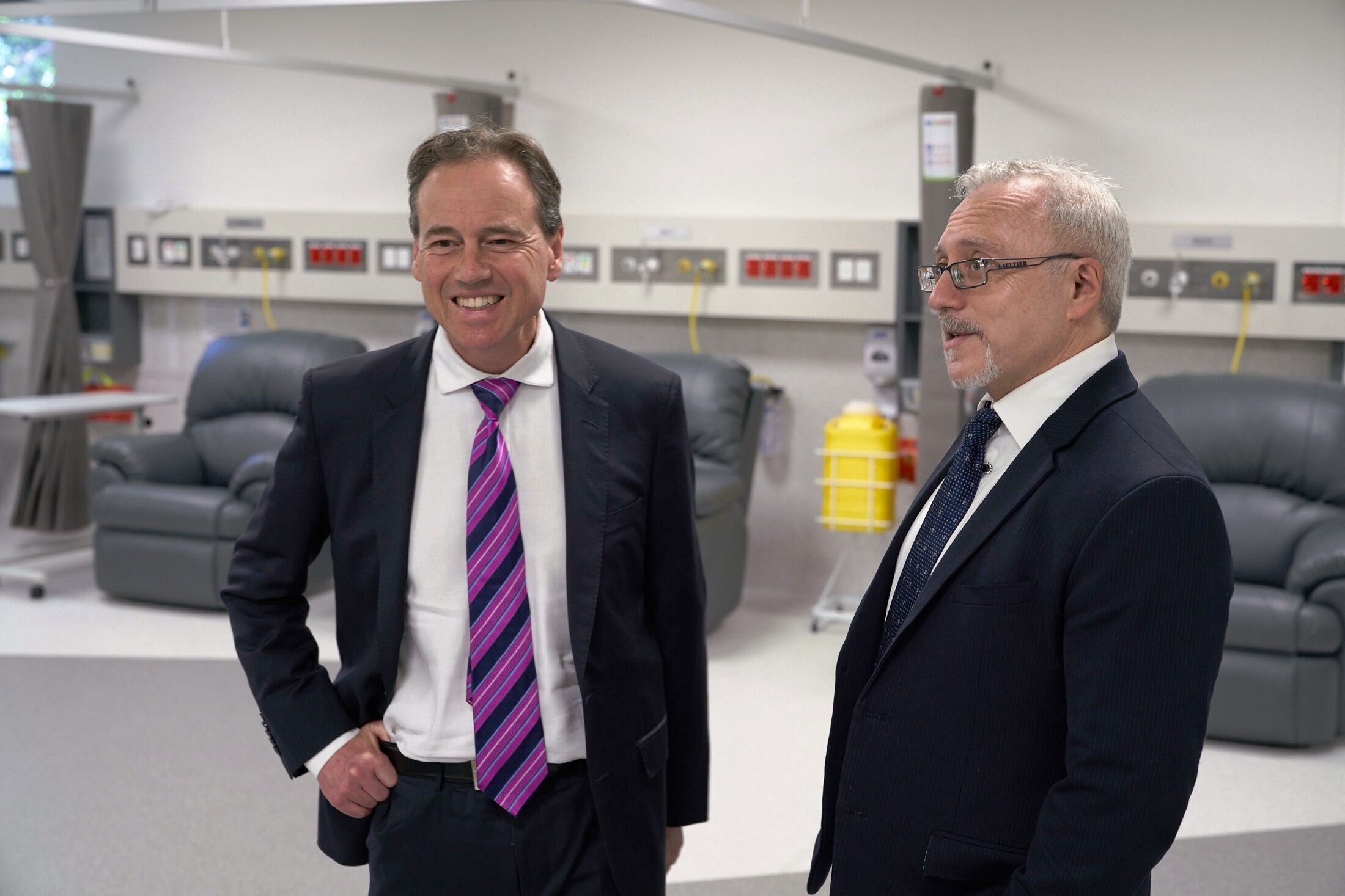 Federal Health Minister, Greg Hunt MP, at the opening of HealthScreen centre